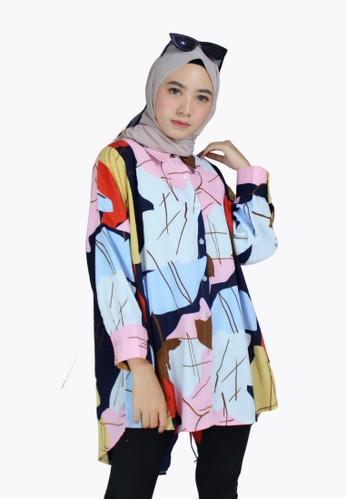 My Daily Hijab multi Lira Blouse D5C07AAD830204GS_1