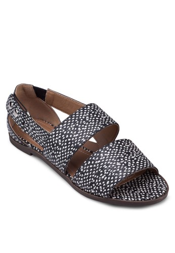 Staesprit香港分店地址cey 寬帶鏤空平底涼鞋, 女鞋, 涼鞋