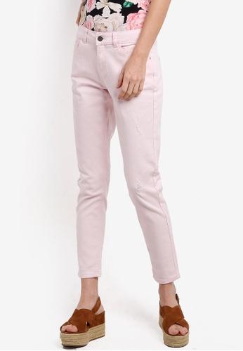Dorothy Perkins pink Regular Length Pink Corey Boyfriend Jeans DO816AA55HQAMY_1
