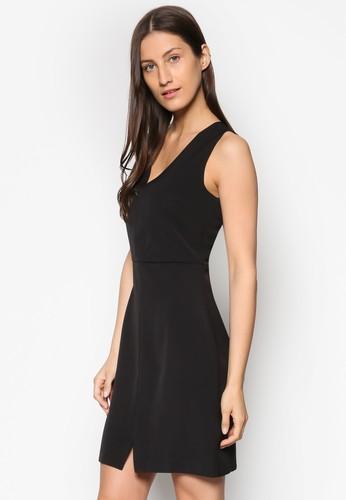 Collection 前開衩esprit專櫃低胸洋裝, 服飾, 簡約優雅風格