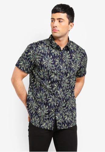 Cotton On 海軍藍色 短袖口袋襯衫 87EE0AA1D609BCGS_1