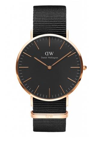 Daniel Wellington black and gold Classic Black Cornwall Watch 40mm DA376AC67NCAMY_1