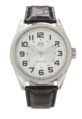 esprit門市地址Q266J304Y 數字顯示皮革手錶, 錶類, 飾品配件