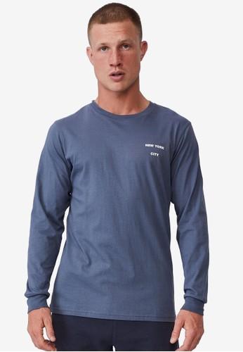Cotton On blue Tbar Long Sleeve T-Shirt 78D79AA5FB8382GS_1