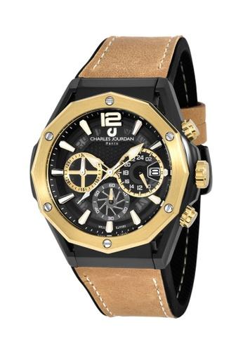 Charles Jourdan gold Charles Jourdan Men Watch Chronograph CJ1101-1035C ACAE4AC282639EGS_1