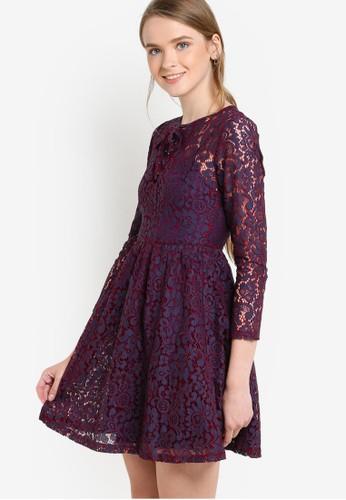 蕾絲七分袖esprit outlet 桃園連身裙, 服飾, 洋裝