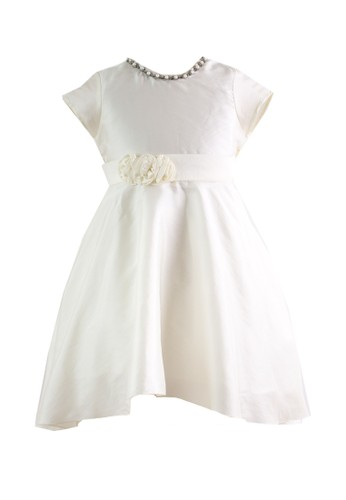 Pretty Girl Collection white and yellow RMystic Party Dress in Cream 600ABKAE4791FDGS_1