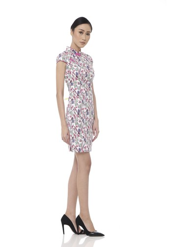 Mandarin Peony Cheongsam multi Mandarin Peony PINK LUPINE Cheongsam Dress 89B48AABC04B9AGS_1