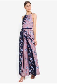 a89452350d2 Little Mistress pink and purple and multi Printed Maxi Dress  3B072AA6F6E761GS 1