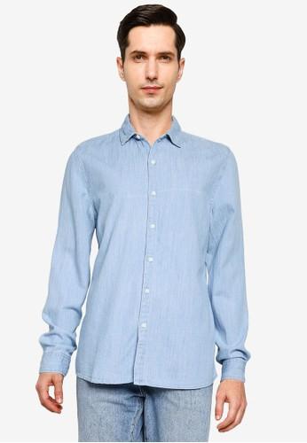 Cotton On blue Fitzroy Denim Shirt EC750AA0BB68FDGS_1