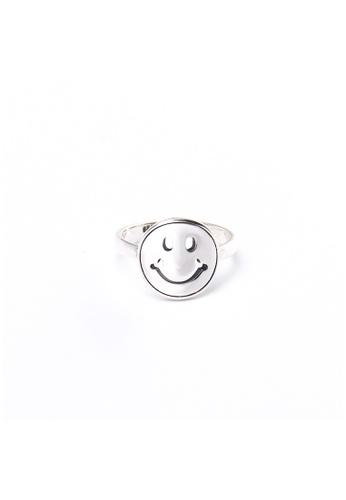 A-Excellence silver Premium S925 Sliver Geometric Ring A28E1AC2E8F71FGS_1