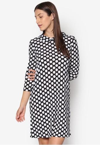 小方領點點連身裙, esprit衣服目錄服飾, 洋裝