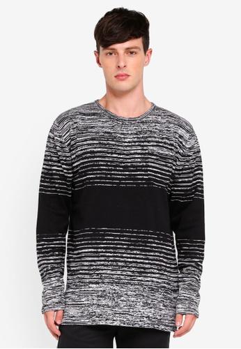 Brave Soul 灰色 條紋針織毛衣 9D02EAA3A42599GS_1