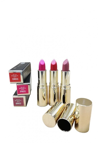 Celranico brown and pink and orange CELRANICO It's CHIC MATT & MOST LIPSTICK SET PK01 BR02 OR03 (Special) F356EBE7BDC650GS_1