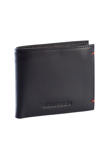 ENZODESIGN black and red Enzodesign Cow Nappa Leather Wallet With Coin Case EN115AC69ZTQPH_1