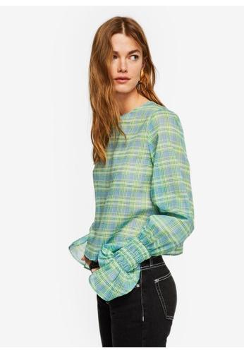 Mango green Sleeve Detail Blouse 04020AA10A9BAFGS_1