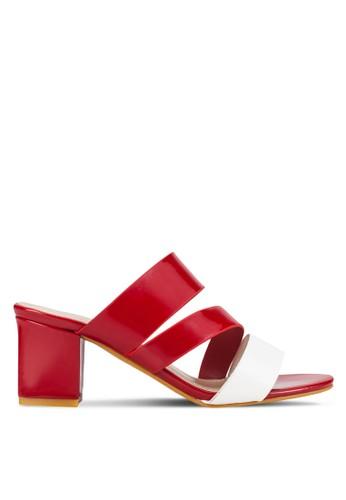 雙色調鞋帶粗跟鞋, 女esprit台灣網頁鞋, 中跟