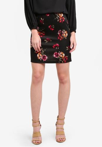 Dorothy Perkins black and multi Chestnut Floral Scuba Mini Skirt DO816AA0S2JNMY_1