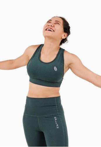 Hallah green Wondiwoi Sports Bra 8DA01AA4FB509AGS_1