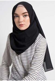 Harga Terbaru Dari Parisku Pashmina Instant Katun Premium Amira Source · Zumara black Hijab Persegi Panjang
