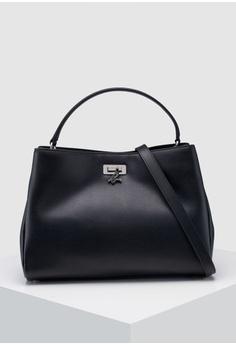 05337b41cfb Agnes B black Leather Shoulder Bag 31319ACB81D39FGS_1