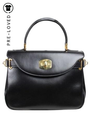 BALLY black Pre-Loved bally Black Vintage Tote Kelly Handbag 6913CAC9C04D57GS_1