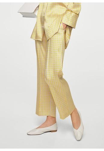Mango yellow Pajama Style Printed Trousers 6380AAA3DB813AGS_1