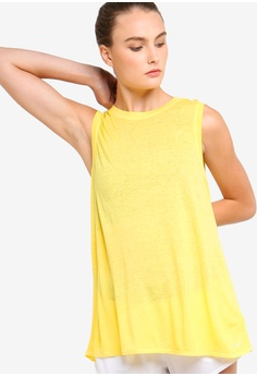 e696df6516424 DKNY yellow Icy Wash Tank With Overlapped Open Back 20D67AAEE0BAF0GS 1