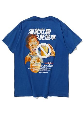 Twenty Eight Shoes BEER Series Printed Short T-Shirt 91900S 5BBF4AAE441D3BGS_1