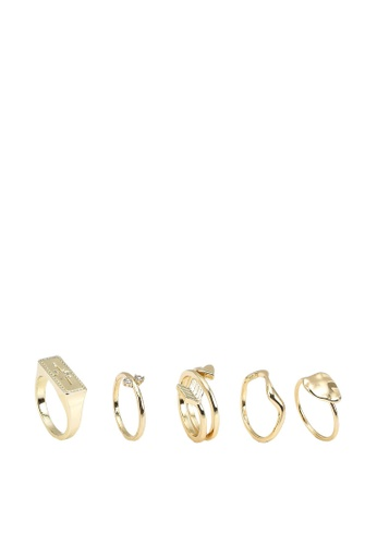 Pieces gold Pcjulia Rings 5-pack AB904ACCD594E8GS_1