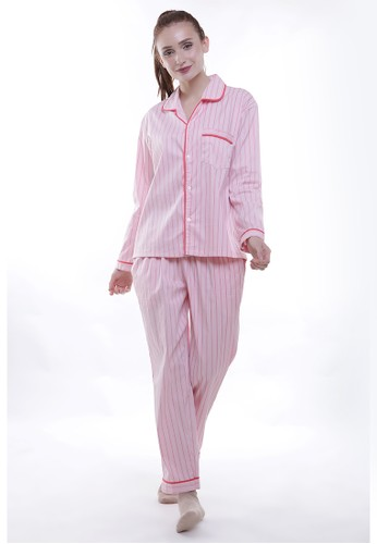 JOYFULIE pink Frances Long Pajamas F679AAA5A5E116GS_1