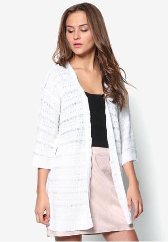 條紋針織開襟外套, 服飾, zalora 評價外套