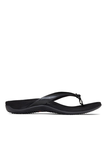 Vionic black Bella Toe Post Sandal 9542ESH6837180GS_1