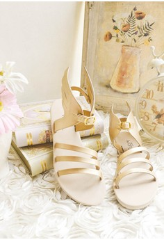 Wings Shoes - Gold
