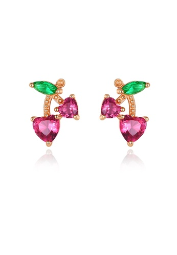 MATCH gold Luxurious  Floral Earrings 66B87AC3DEB744GS_1