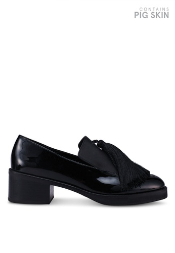 E8 by Miista 黑色 粗跟流蘇樂福鞋 F0D01SH5946808GS_1