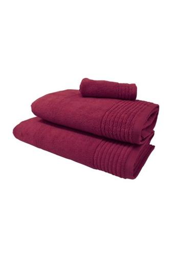HOOGA red Hooga Bath Towel Chloe (Bundle of 2) 10855HL6B9A3D4GS_1