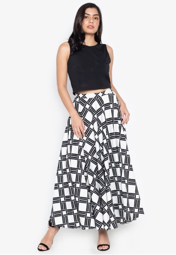 0783cf9ebbf Daria black Osaka Crop Top And Maxi Skirt Set BCDA0AA7FA7A50GS 1