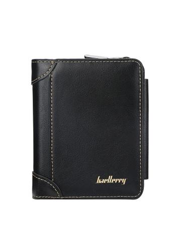 Baellerry black Carteira Short Trifold Zipper Coin Purse Card Holder Wallet F4280AC091203BGS_1