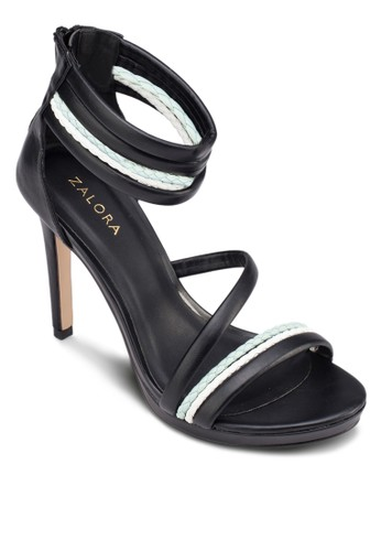 辮子繞踝高跟涼鞋, 女鞋, 細帶zalora 包包評價高跟鞋