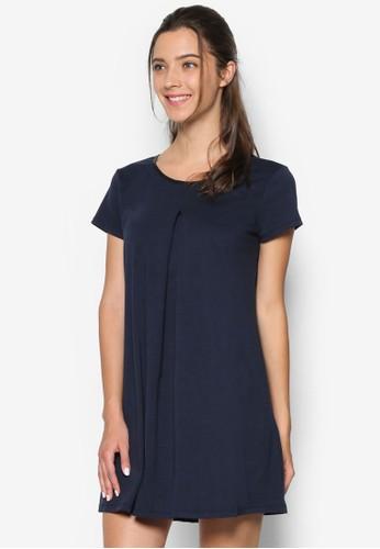 褶飾寬擺連身裙、 服飾、 洋裝SomethingBorrowed褶飾寬擺連身裙最新折價