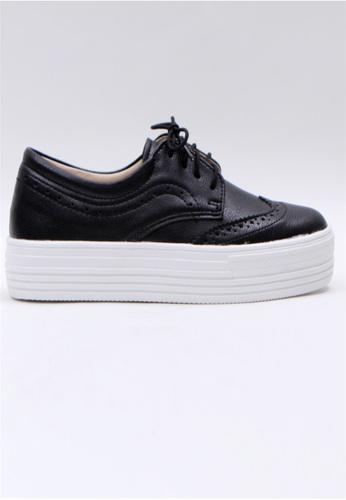 Crystal Korea Fashion 黑色 韓國制百搭厚底舒適休閒鞋 C279ASH51A3B95GS_1