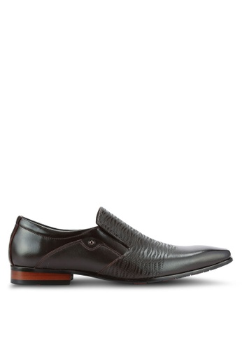 Frank Williams brown Leather Dress Shoes FR169SH0RE6QMY_1