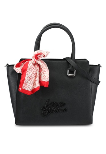 Love Moschino black Borsa Saffiano Top Handle Bag LO478AC0SEILMY_1