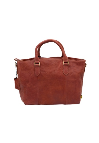 EXTREME red Extreme Leather Tote Bag (13inch Laptop) 5756AAC076AB03GS_1