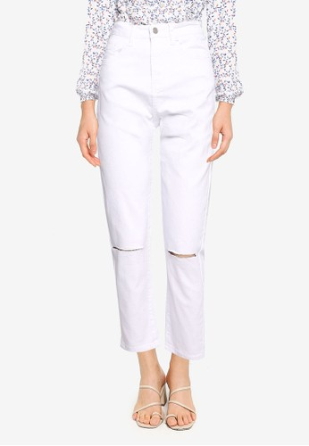 ZALORA BASICS white The 'Mom' Jeans 66754AAF65683EGS_1
