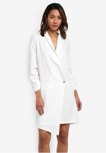 Vesper white Constance Blazer Style Dress CACF3AA5292AB9GS_1