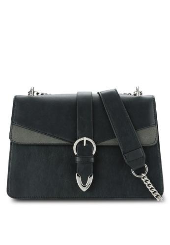 ZALORA black Buckle Detail Chain Strap Bag DDBAFZZ873A293GS_1