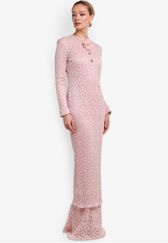 Rizalman for Zalora pink Jdida Baju Kurung Dress RI909AA14XGNMY_1