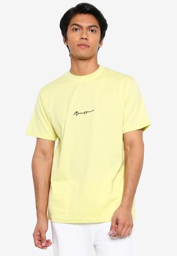 Mennace yellow Short Sleeves Essential Signature T-shirt D1E37AAC62A811GS_1